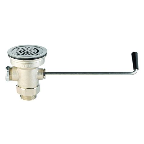 commercial sink strainer types t s b 3940 twist waste valve 3 quot sink opening 2 quot drain outlet