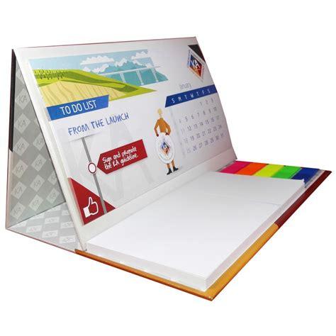 imprimez en ligne votre logo sur le calendrier de bureau post it maxi