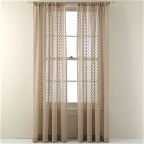 royal velvet 174 stanza rod pocket sheer panel found at jcpenney windows guest