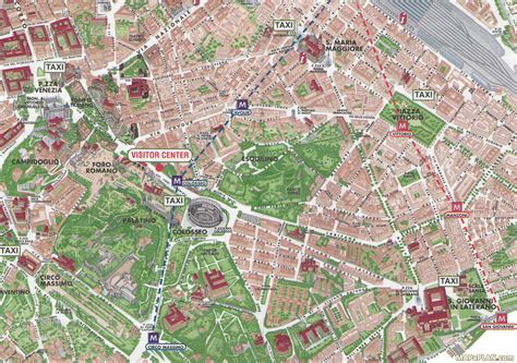 rome map roman colosseum coliseum travel route planner