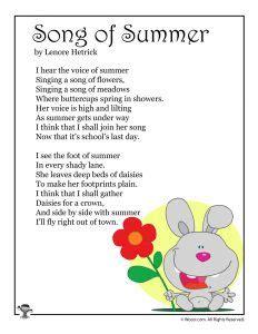 summer worksheets 818   Summer Printable Poem 1 232x300