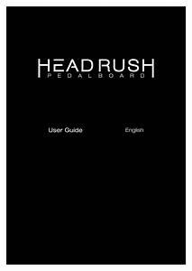 Headrush Pedalboard User Guide