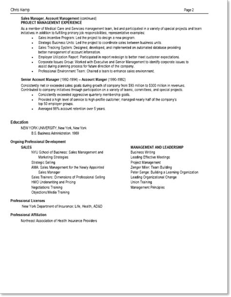 resume junior to mid level professional single employer