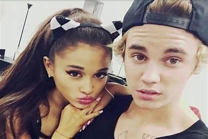 Justin Bieber Ariana Grande Stuck Together Omg