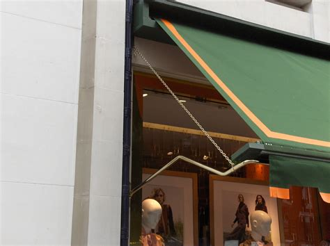 bespoke traditional awnings  bond street shops  stores  original victorian awning company