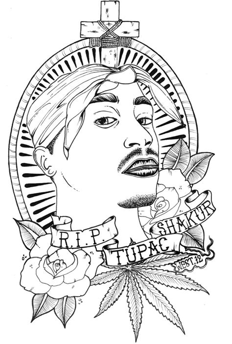 tupac shakur  coloring pages