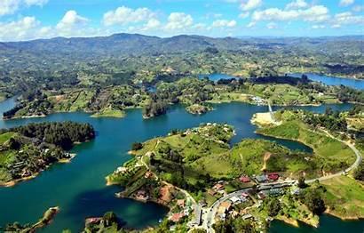 Colombia Guatape Islands River Wallpapers Landscape Desktop