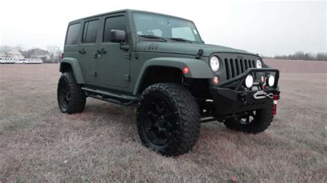 jeep wrangler custom lift 2015 custom jeep wrangler rubicon green kevlar lifted