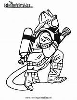 Coloring Firefighter Fire Pages Fireman Fighter Printable Sheets Getcoloringpages sketch template