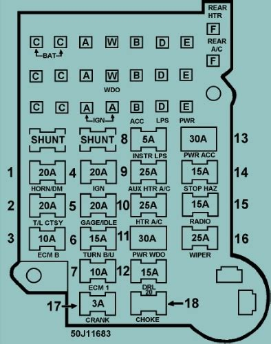 1993 Chevy S10 Fuse Diagram by 1990 Chevy S10 Fuse Box Wiring Diagram For Free