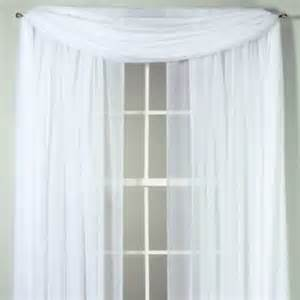 voile sheer rod pocket window curtain from bed bath beyond