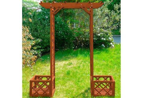 pergola en treillis arche de jardin en bois ciel et terre