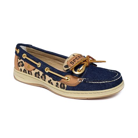 lyst sperry top sider angelfish boat shoes in blue