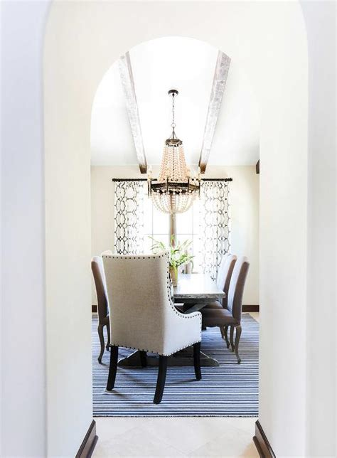 vaulted dining room ceiling  regina andrew scalloped