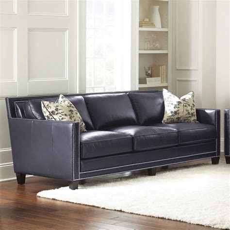 Sofa Pillows Contemporary by Steve Silver Sofa W 2 Accent Pillows In Navy Blue