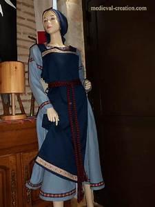 Créations Médiévales costume Costume Viking Normand Robe ...
