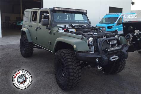 matte tan jeep matte army green jeep wrap wrap bullys