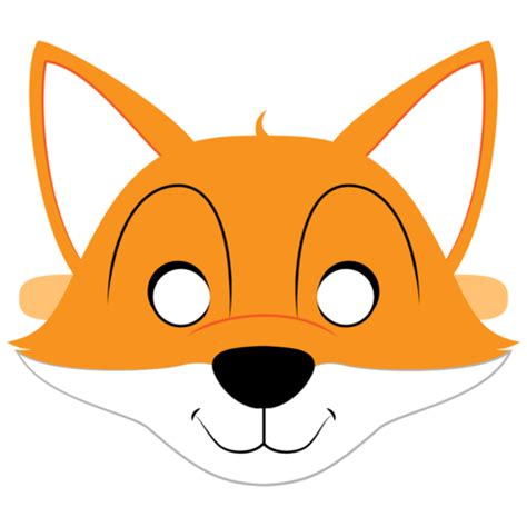 fox mask template  printable papercraft templates
