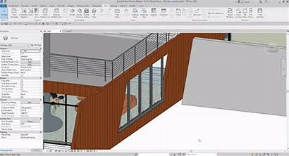 Revit Walls Features Slanted Windows Perspective Section