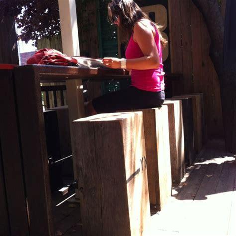 wood bench love  design montreal leboucan wood