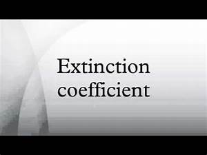Extinction coefficient - YouTube