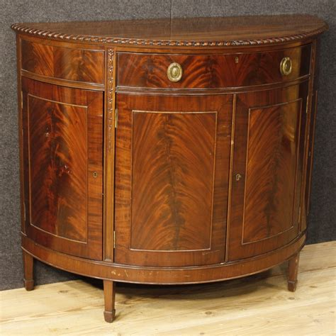Wood Sideboards For Sale by Demilune Sideboard In Mahogany Wood For Sale