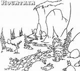 Coloring Mountain Mountains Range Malvorlagen Colorare Coloringpageforkids Disegni Nature Montagne Berge Natur Kann Montagna Scene Template Colorings sketch template