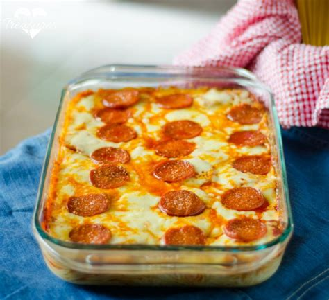 easy and simple meals easy pizza spaghetti bake