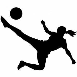 Girl Soccer Player Silhouette | Clipart Panda - Free ...