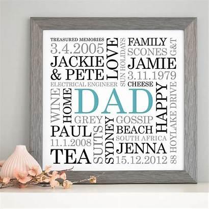 Dad Word Personalised Words Framed Notonthehighstreet Type