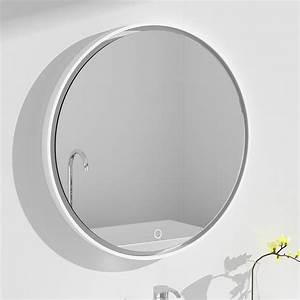 Miroir Rond Lumineux : miroir 70cm rond r sine min rale plate ~ Zukunftsfamilie.com Idées de Décoration