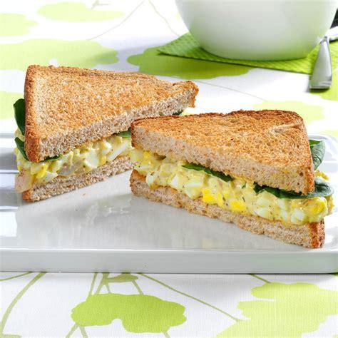 how to make egg salad sandwich pesto egg salad sandwiches recipe taste of home