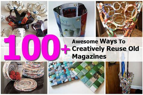 awesome ways  creatively reuse  magazines