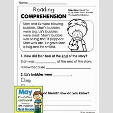 May Printables  First Grade Literacy And Math  Kinder  Reading Comprehension Activities