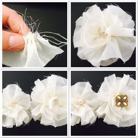 how to make shabby chic flowers out of fabric shabby chic flower headband the how to duo