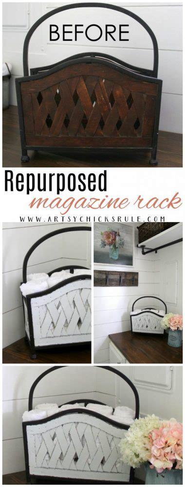 repurposed magazine rack   artsy chicks rule