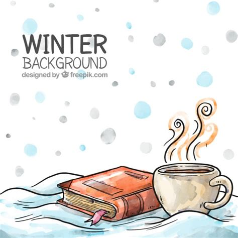 Hand Drawing Winter Background Vector Premium Download
