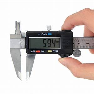 Digital Caliper Lcd Stainless Electronic Ruler Micrometer