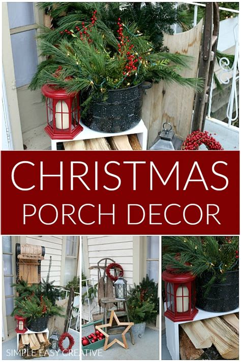 christmas porch decorating holiday inspiration hoosier