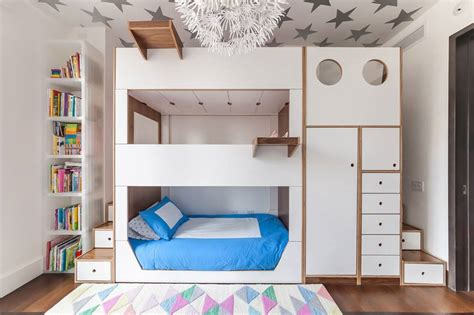 heres  clever triple bunk bed   kids  brooklyn