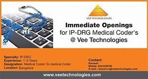 Job Openings For Ip Drg Coders  Vee Technologies