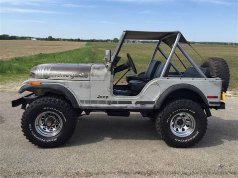 jeep cj renegade 1979 jeep cj5 renegade silver anniversary classic jeep