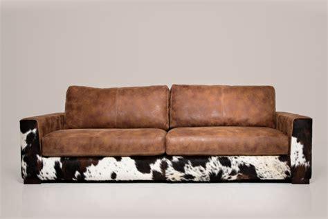 Fell Für Sofa by Ledersofa Nebraska Het Anker Mit Kuh Fell In Afrika Leder