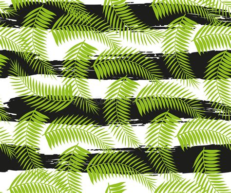 4 Beautiful Seamless Tropical Jungle Floral Patterns