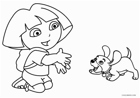 printable dora coloring pages  kids coolbkids