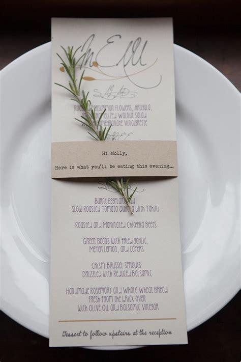 menu ideassit  dinner wedding menu cards rustic