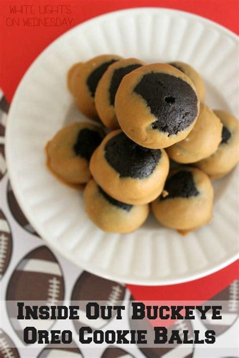 oreo inside cookie balls buckeye whitelightsonwednesday truffles ball recipes wednesday fun food inspiration season long