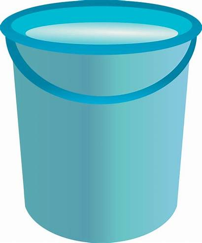 Bucket Water Clipart Container Transparent Freeiconspng