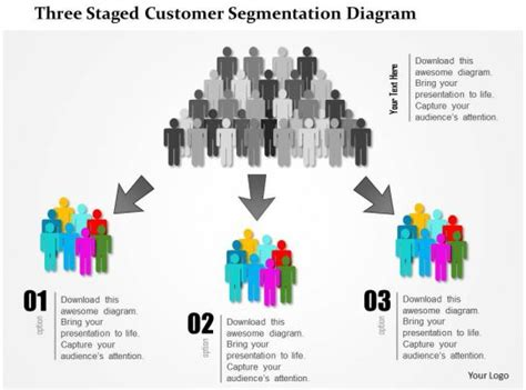staged customer segmentation diagram powerpoint