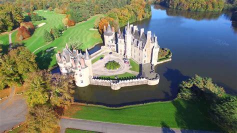 chateau de la bretesche missillac french castle loire atlantique par drone phantom  pro
